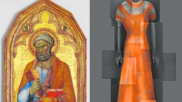 Vestido de Elsa Schiaparelli inspirado en el San Pedro medieval del siglo XIV