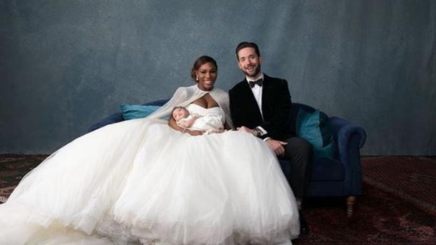 Serena Williams y Alexis Ohanian junto a su hijo