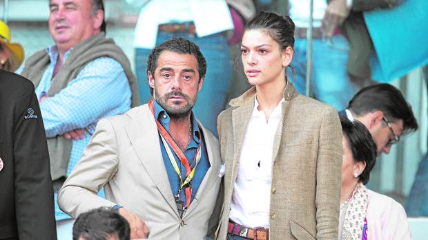 Vicente Dalmau y Marta Ortiz en el torneo Madrid Masters Series de tenis, el pasado mes de mayo
