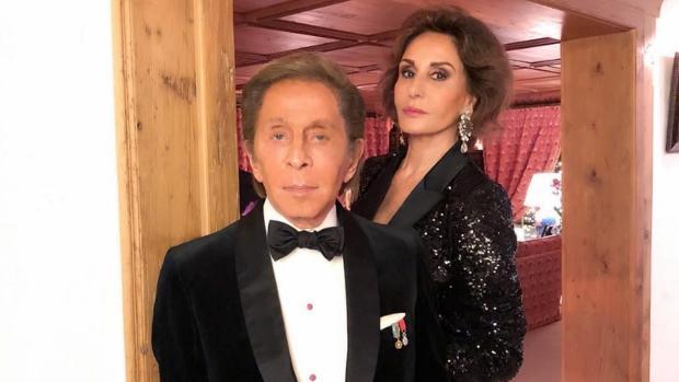 Valentino y Naty Abascal en Gstaad
