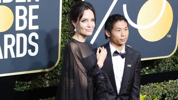 Angelina Jolie y su hijo, Pax
