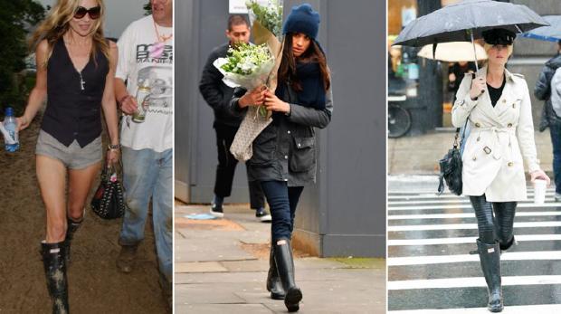 Kate Moss, Meghan Markle y Nicki Hilton con sus botas Hunter