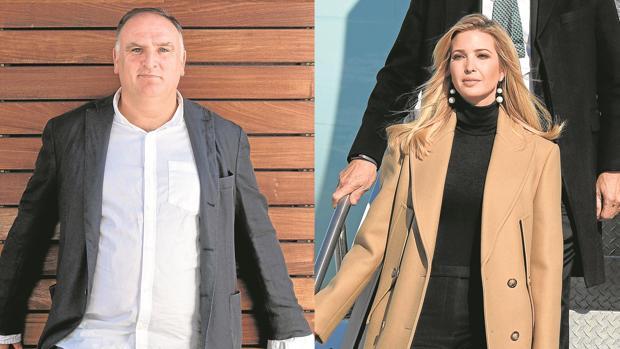 El chef José Andrés e Ivanka Trump