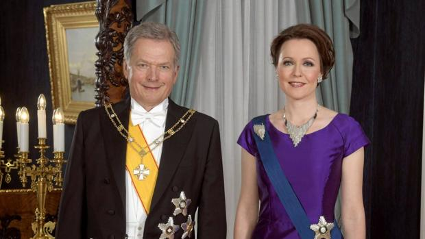 Sauli Niinistö y su esposa, Janni Haukio
