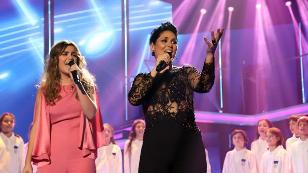 Amaia Romero y Rosa López en la última edición de «Operación Triunfo»