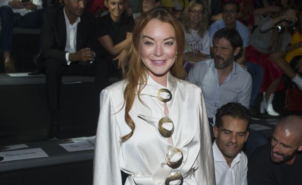 Lindsay Lohan, el pasado mes de septiembre en Madrid, durante el desfile de Devota & Lomba