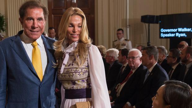 Wynn y su mujer en la Casa Blanca