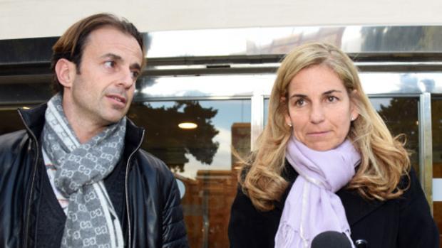 Arantxa Sánchez Vicario junto a su exmarido Josep Santacana