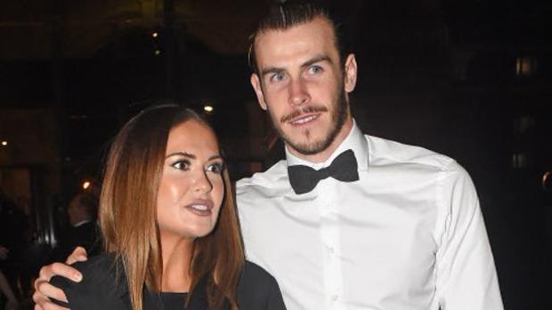 Gareth Bale y su pareja Emma Rhys-Jones