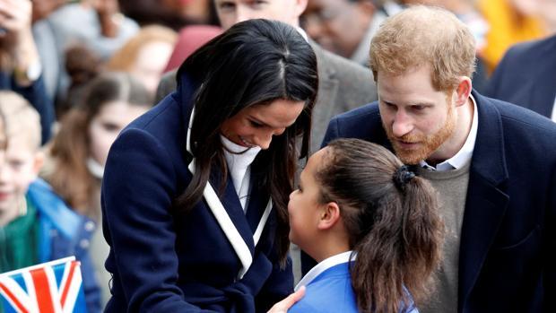 Meghan Markle y el Príncipe Harry, junta a la pequeña Sophia