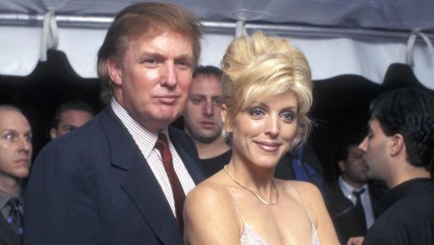 Donald Trump y su segunda esposa, Marla Maples