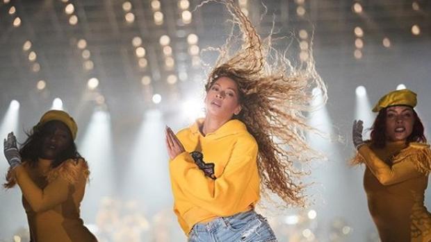 Beyoncé en una de sus actuaciones en el festival Coachella