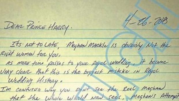 Carta del hermanastro de Meghan Markle