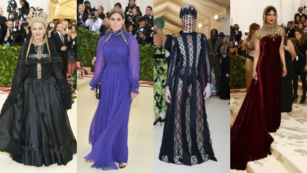 Madonna, Beatriz de York, Cara Delevingne y la actriz Priyanka Chopra en la gala de los Met