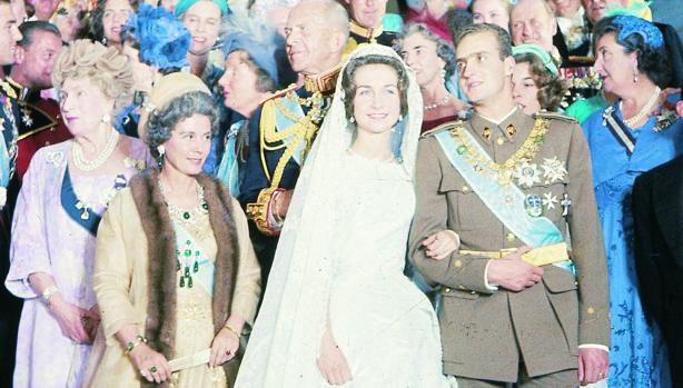 Don Juan Carlos y Doña Sofía el día de su boda en Atenas