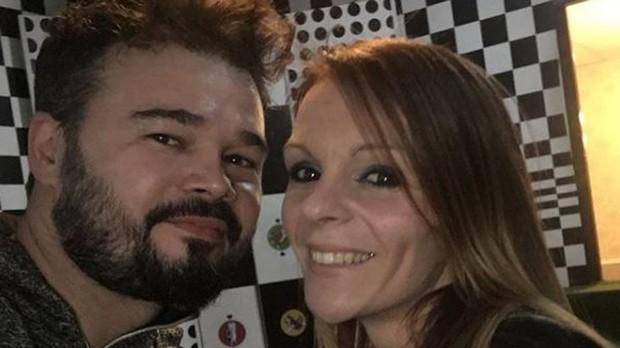Gabriel Rufián y su mujer