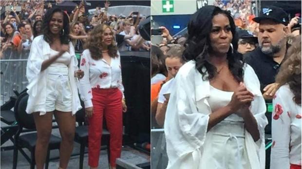 Michelle Obama durante el concierto