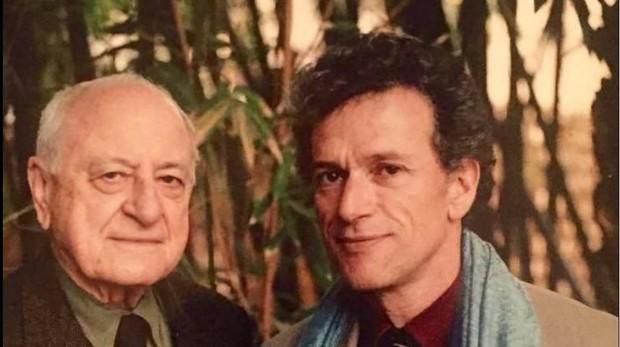 Quito Fierro junto al empresario Pierre Bergé