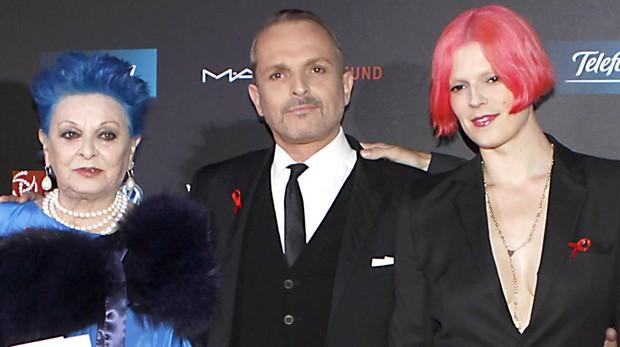 Lucía, Miguel y Bimba Bosé en una imagen de 2011