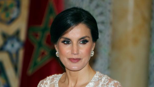 La Reina Letizia, en la cena de gala en el Palacio Real de Rabat