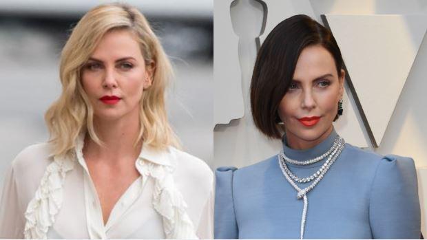 Ala izquierda, Theron el pasado año; a la derecha, en la gala de los Oscar este domingo