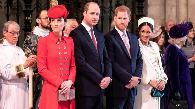 Los Duques de Cambridge y los Duques de Sussex en la Abadía de Westminster celebrando el Día de la Commonwealth
