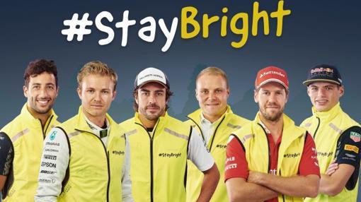 Pilotos de Fórmula 1 que colaboran en la campaña