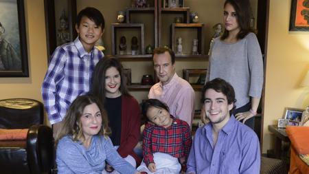 Blanca Rudilla con su familia