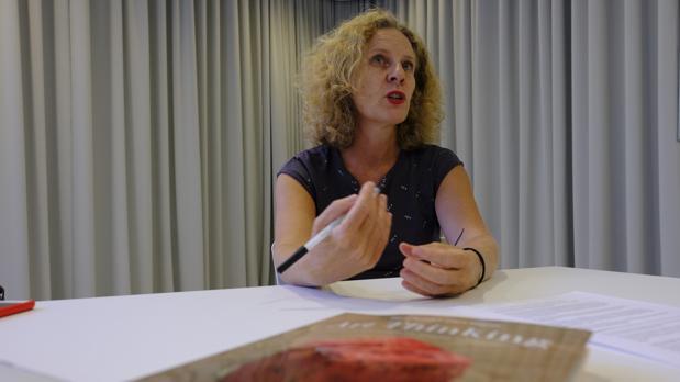 María Acaso durante la entrevista con ABC