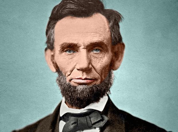 Retrato de Abraham Lincoln en color