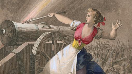 Agustina de Aragón, heróica defensora de la ciudad de Zaragoza.