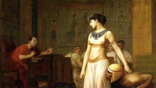 Julio César y Cleopatra, de Jean-Léon Gérôme.