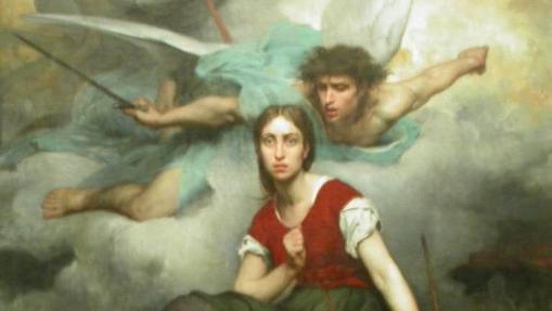 Juana de Arco recibiendo el mensaje del arcángel Miguel