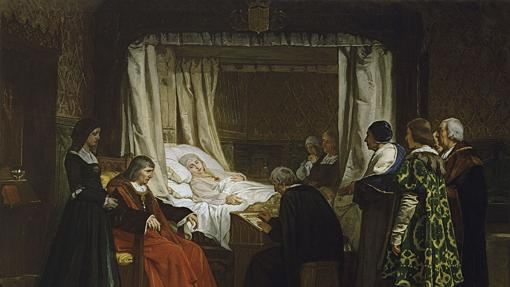 Doña Isabel la Católica dictando su testamento, por Eduardo Rosales