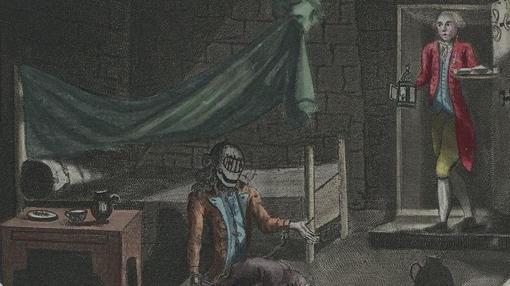 'L'Homme au Masque de Fer', un anónimo grabado de 1789.