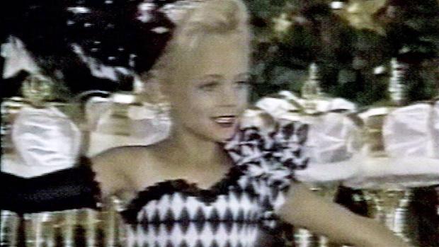 Imagen en la que aparece JonBenet Ramsey durante un concurso de belleza.