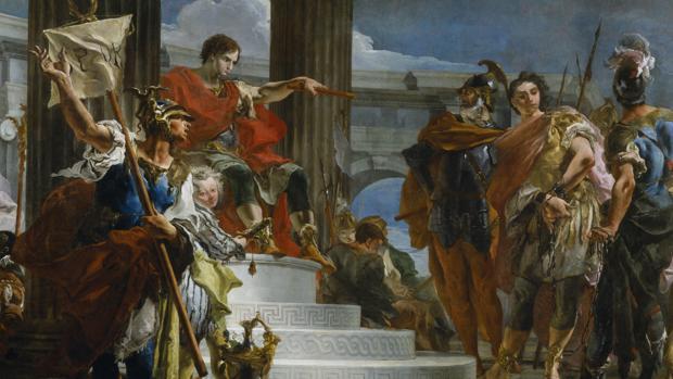 Escipión «El Africano» ordena liberar al sobrino del Príncipe de Nubia después de que fuera capturado por Roma