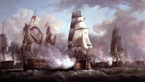 """El """"Neptuno"""", en Trafalgar"""