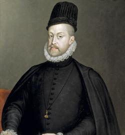 Retrato de Felipe II, primer Rey portugués de la dinastía de los Austrias