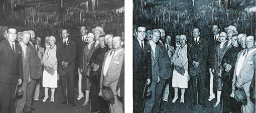 La fotografía original (izda) y la publicada (dcha)