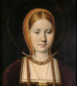 Retrato posiblemente de Catalina de Aragón, hacia 1502