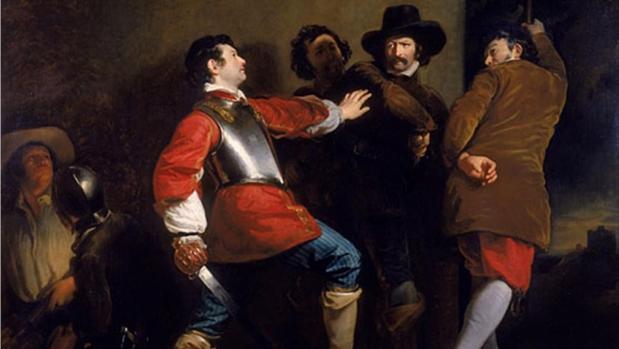 El descubrimiento de la conspiración de la pólvora, de Henry Perronet Briggs