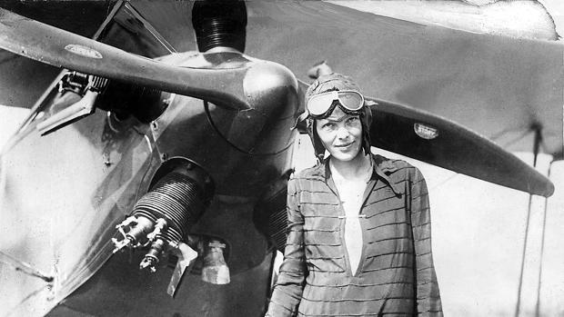 Amelia Earhart en una imagen de 1928