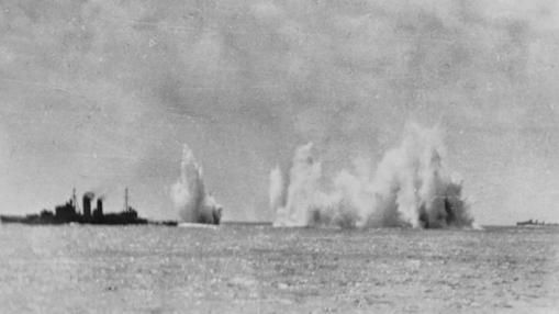 Flota naval destruida por Japón.