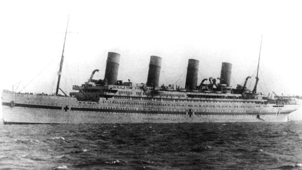 El HMHS Britannic durante la Primera Guerra Mundial