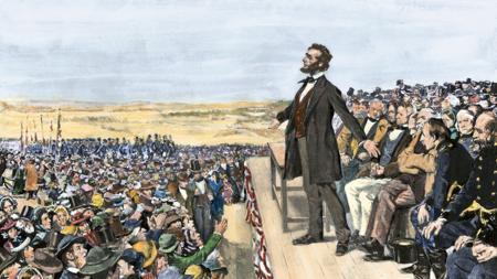 Lincoln, durante el discurso