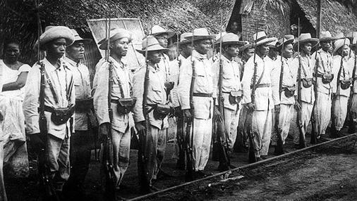 Insurrectos filipinos en 1899