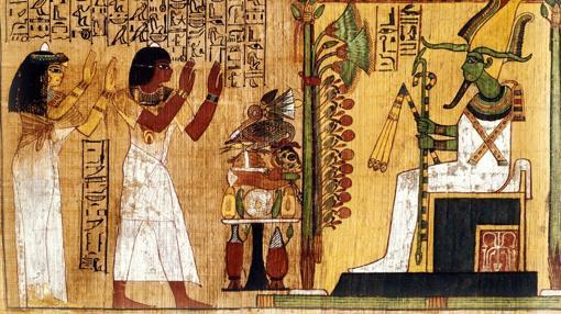 Kha y Merit, ante Osiris