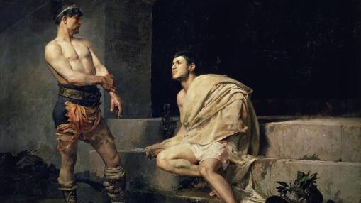 Gladiadores después del combate, por José Moreno Carbonero