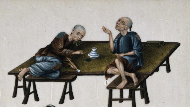 Dos pobres fumadores de opio